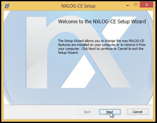 NXLOG-CE Setup