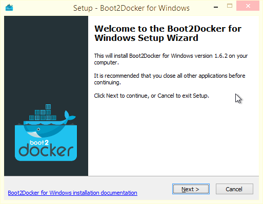 Setup - Boot2Docker for Windows
